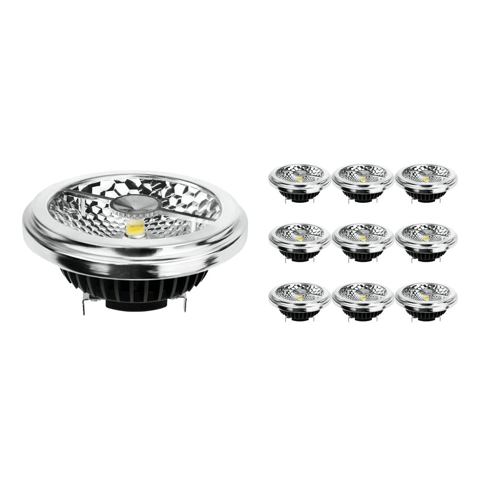 Voordeelpak 10x Noxion Lucent LED Spot AR111 G53 Pro 12V 12W 927 40D| Zeer Warm Wit - Beste Kleurweergave - Dimbaar - Vervangt 50W
