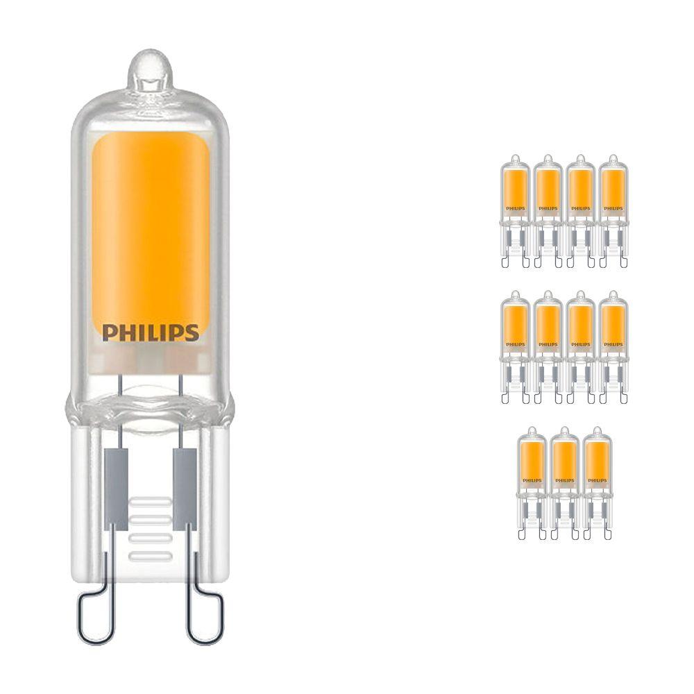 Voordeelpak 12x Philips CorePro LEDcapsule G9 2W 827   Zeer Warm Wit - Vervangt 25W