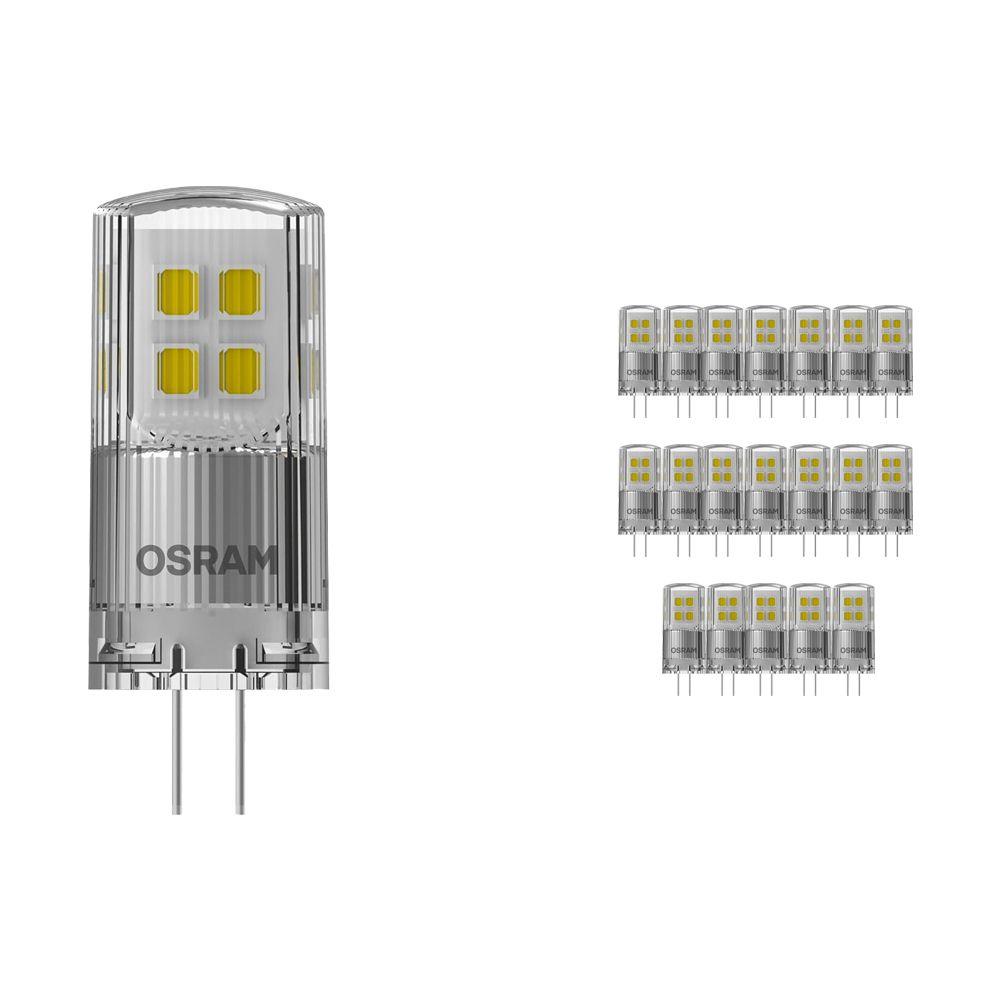 Voordeelpak 20x Osram Parathom LED PIN G4 2W 827   Dimbaar - Zeer Warm Wit - Vervangt 20W