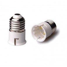 Fitting Adapter voor Lamphouders Male E27 => Male B22