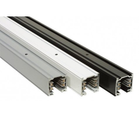 3 Fase Railsysteem - 1m - Zwart