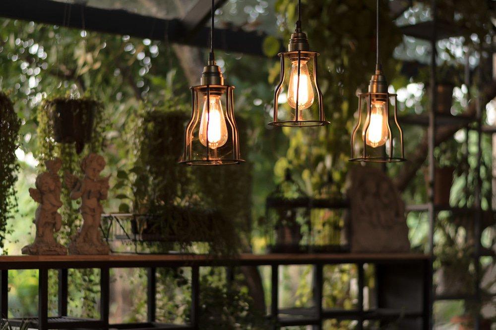 Vintage LED bulb fixture