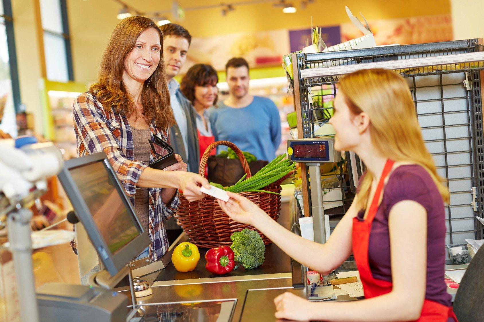 checkout supermarket