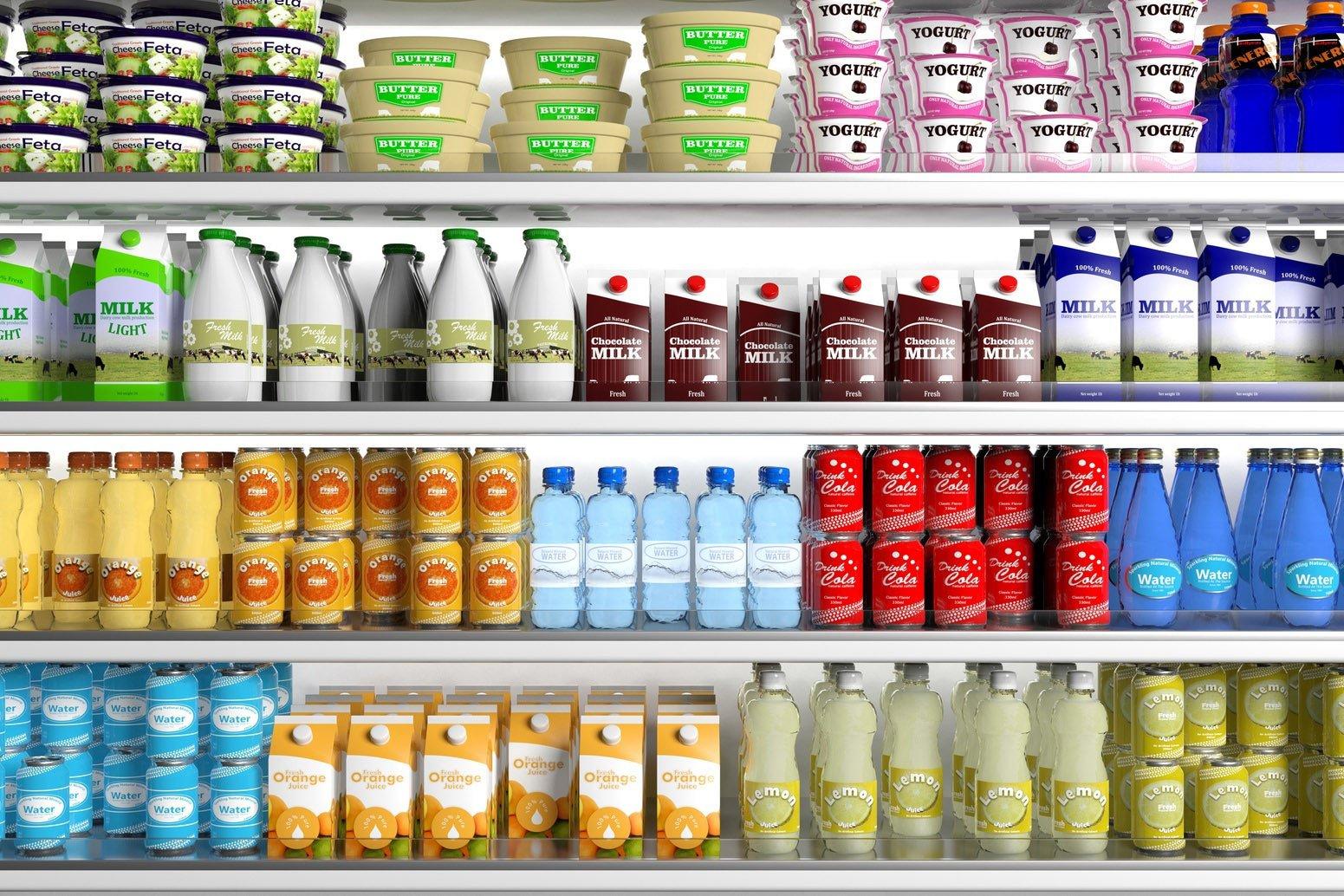 shelves supermarket