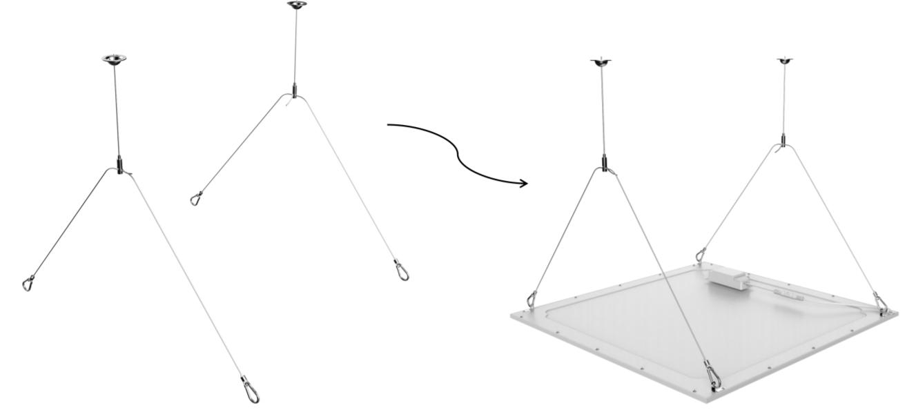 LED Paneel Opbouw Pendelset