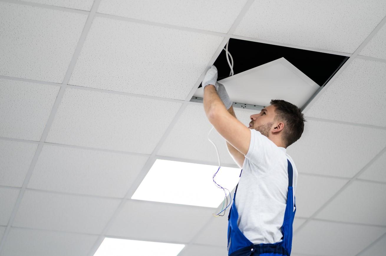 LED Panelen Installatie Systeemplafond